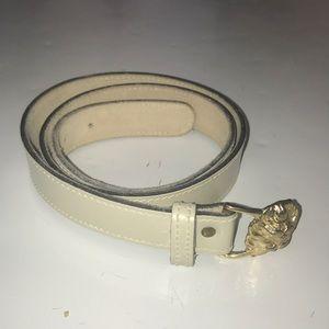 Women's genuine leather Anne Klein belt off white